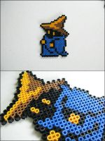 Final Fantasy 1 Black Mage (standing) bead sprite by 8bitcraft