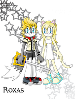 Roxas and Namine: Sonic Style by Lavender-Star