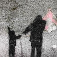 Holding hands stencil by PSP2015