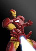 Iron Man Repulsor Blast by KaosKitsune