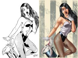 ZATANNA magic gone wrong Inks n color by Dany-Morales