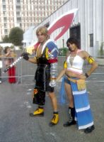 Cosplay Time Tidus and Yuna by yuna-yume