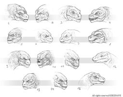 Reptil Head Design 1 by LozanoX