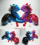 Romantic Oriental Dragon Couple by SweetMayDreams