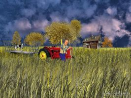 Farm Labouring by TheFaceArtiste