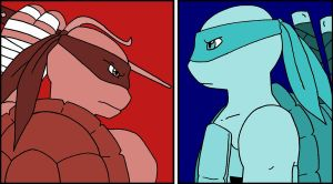 Raph and Leo Wallpaper by AnyaBraginski