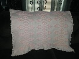 Pretty Popcorns Crochet Baby Blanket by DarkRhia