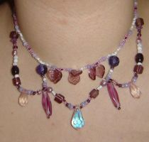 Purple Victorianesque Necklace by ammajiger