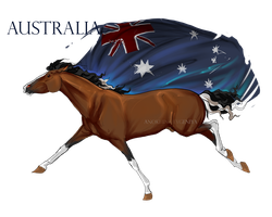 Horse Hetalia:  Australia by Moon-illusion