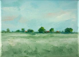 Tiny Dutch Landscape by NancyvandenBoom