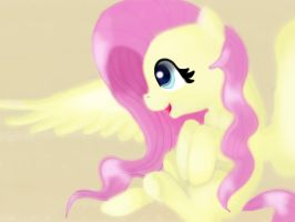 Happy Fluttershy by SunshineEclipse