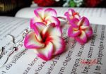 Multicolor doubled flowers earrings by Benia1991