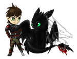 Hiccup and Toothless .:Art Trade:. by RobynTheDragon