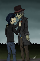 Murdoc and his dad by Touraw