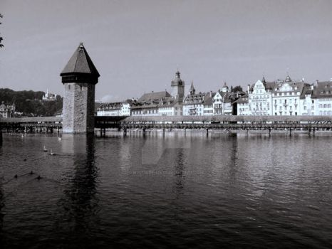 Luzern Bridge by WyldSide-mx3