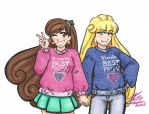Mabel and Pacifica by Kiyomi-chan16