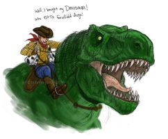 woody and rex by briannacherrygarcia
