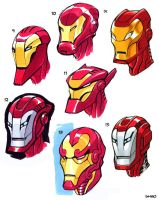 Iron Man Heads 2 by D-MAC
