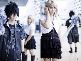 Noctis and Stella (Final Fantasy XV) by japepong