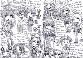 Harry Potter Doodlez by akaruquille