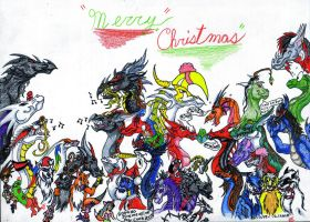 MERRY CHRISTMAS 2009 Group pic by DragonHeartLuver
