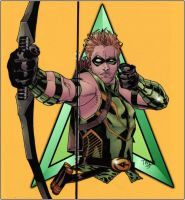 Green Arrow_Lines Tim Green II Colors Doug Garbark by DougGarbark