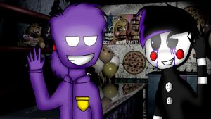 Puppet and Purple Guy by VinieCz