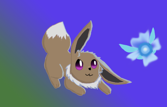 Eevee and Navi by umbrephlosion