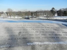 Kennedy Inaugural Address In Winter by Flaherty56