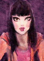 Watercolor sketch, and Photoshop. by DrawingWithRazors