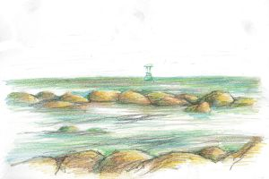 Thailand Drawing 2014 09 Hua Hin by JakobHansson