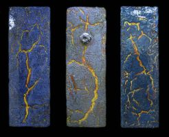 """Fractured I, II, III"" 2007 by blakewood"