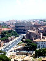 The Colosseum from above by yuminica