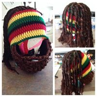 Rasta Dreadlocks and Beard Hat by Chebk