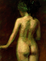 nude with head wrap by mollygrue
