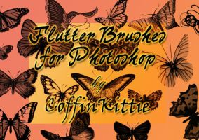 Flutter Brushes For Photoshop by coffinkittie