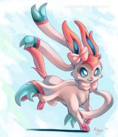 Sylveon by AriyaLothiriell