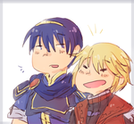 Marth and Shulk doodle by SparxPunx