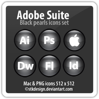 Black pearls icons Adobe CS3 by stkdesign