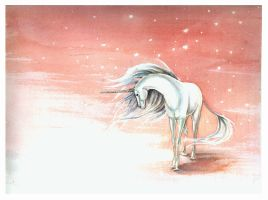 Unicorn in the Snow by The-Starhorse