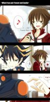 YGO_What if Yusei and Judai by Shi-Ri-Kyuu