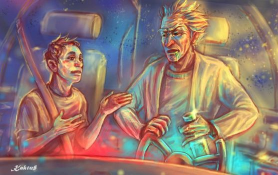 Rick and Morty: On the way to adventure by Kaktus-Olya