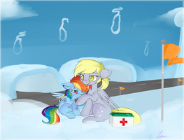 Commission: Filly Dash and Derpy by Lustrous-Dreams
