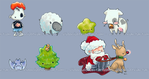 Ohai New Chibis and Happy Holidays by shidonii