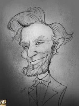 Caricature of Abraham Lincoln by prosn