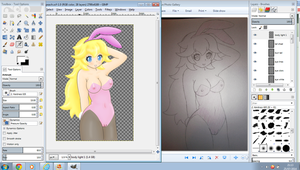 Me drawing start to finish: Ft Peach by Pgm-M