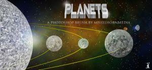 Planets, Moons Photoshop Brush by cwylie0