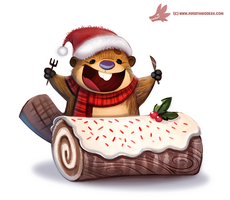 Daily Paint #1123. Yule Log by Cryptid-Creations