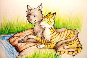 Crowfeather and Leafpool by Marshcold