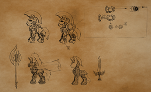 Pony armor concepts by SonicPegasus